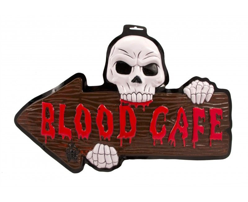 3D Blood Cafe deurbord