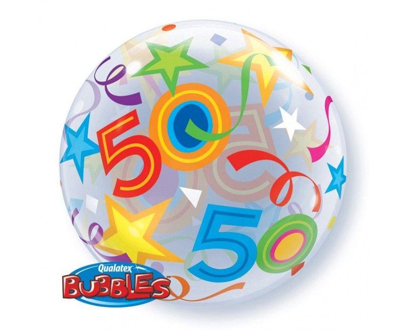 Bubble stretch ballon 50 jaar