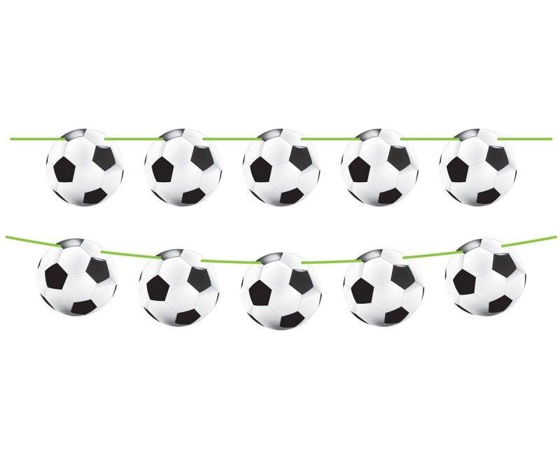 Papieren voetbal slinger, 10 meter