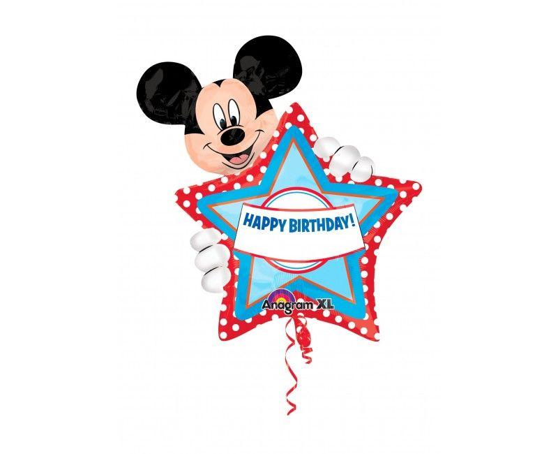 Folieballon Mickey XL met letter/cijfer stickers