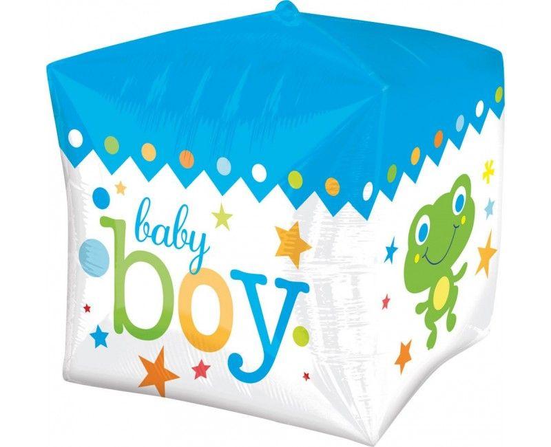 Folieballon Baby Boy kubus