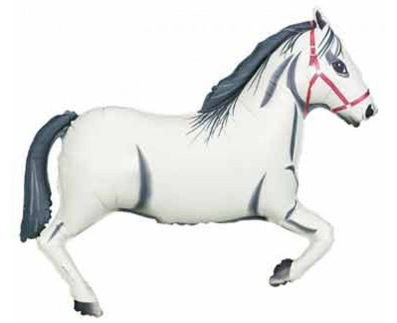 Folieballon paard wit 81 cm