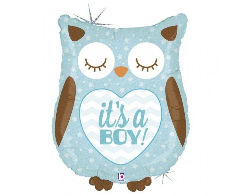 Folieballon It's a Boyl Owl