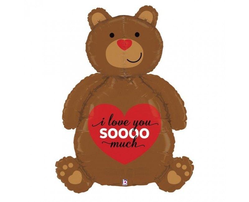 Folieballon love bear 3D 120cm
