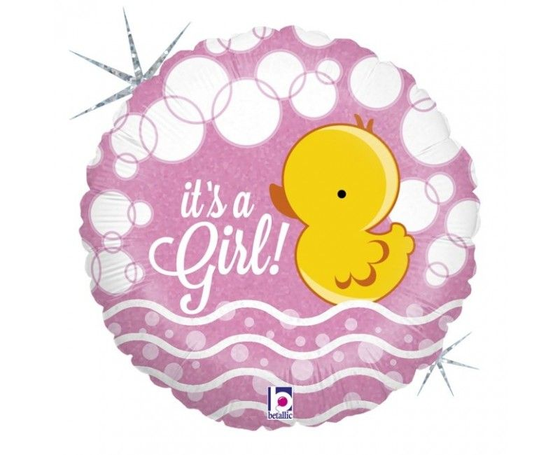 Folieballon Folieballon bubble ducky girl
