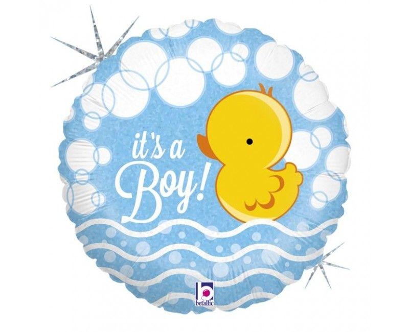 Folieballon Folieballon bubble ducky boy