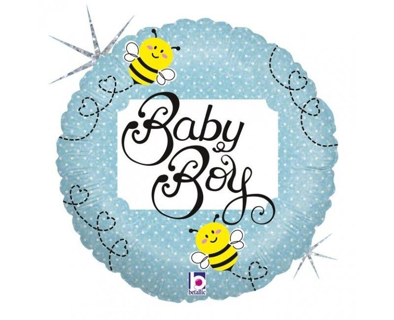 Folieballon baby boy bee