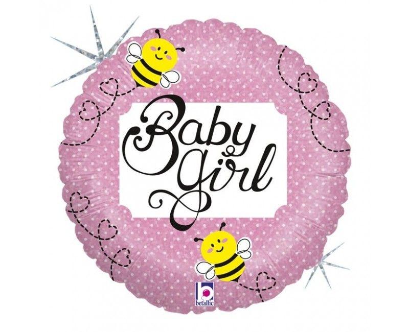 Folieballon baby girl bee