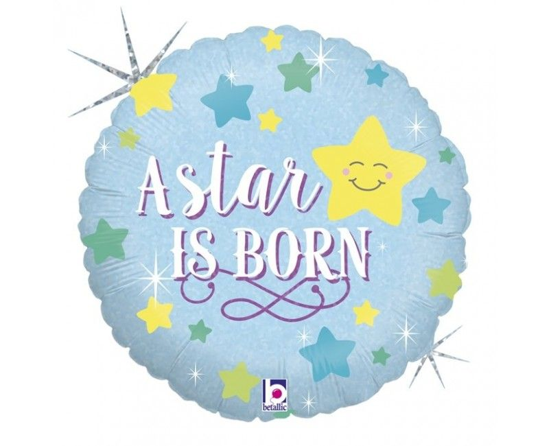 Folieballon a star is born baby boy