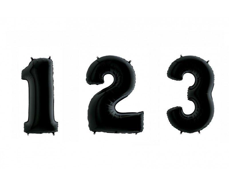 Folieballon cijfers 100cm zwart