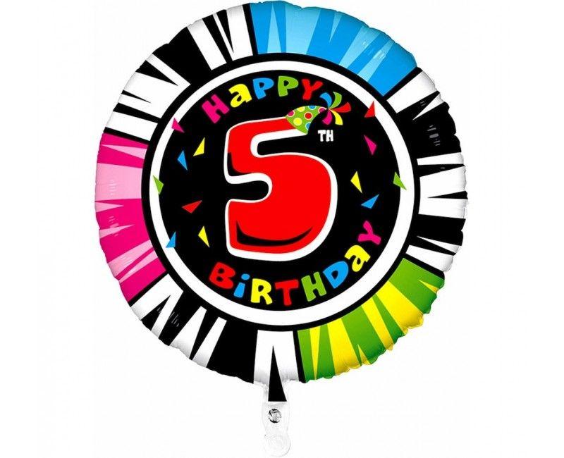 Folieballon 53cm animaloon Happy Birthday 5