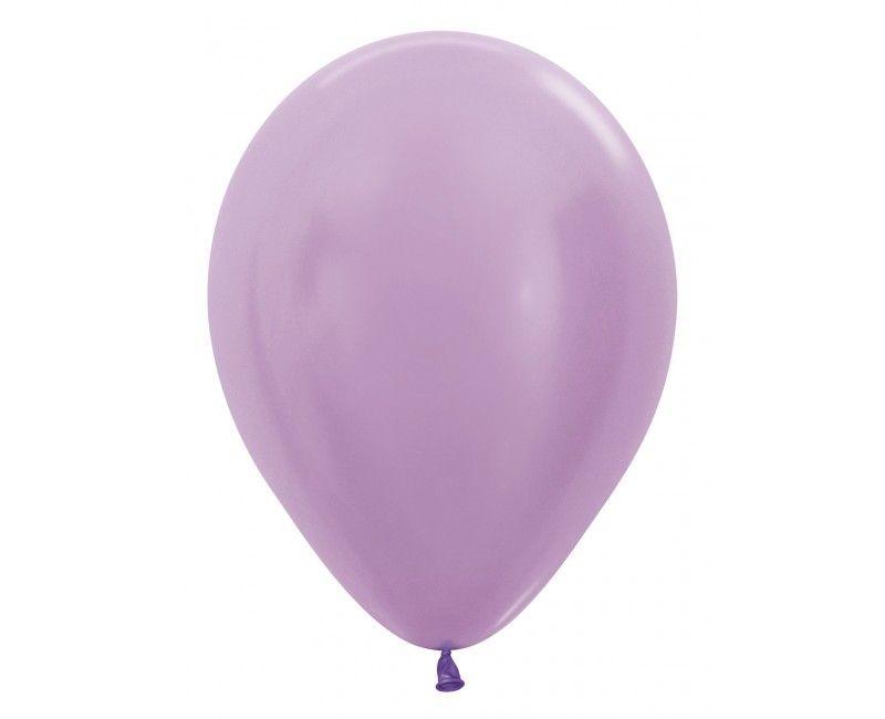 Sempertex ballonnen 30 cm metallic satin lilac, 50 stuks