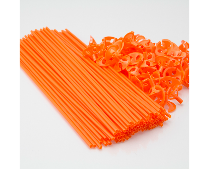 Ballonstokjes oranje, 10 stuks