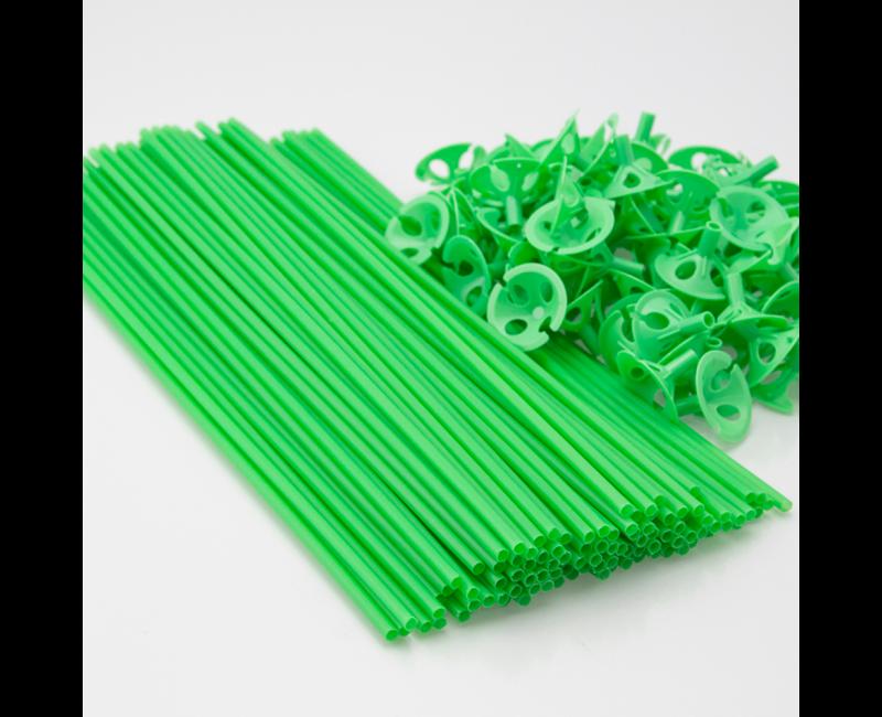 Ballonstokjes groen, 10 stuks