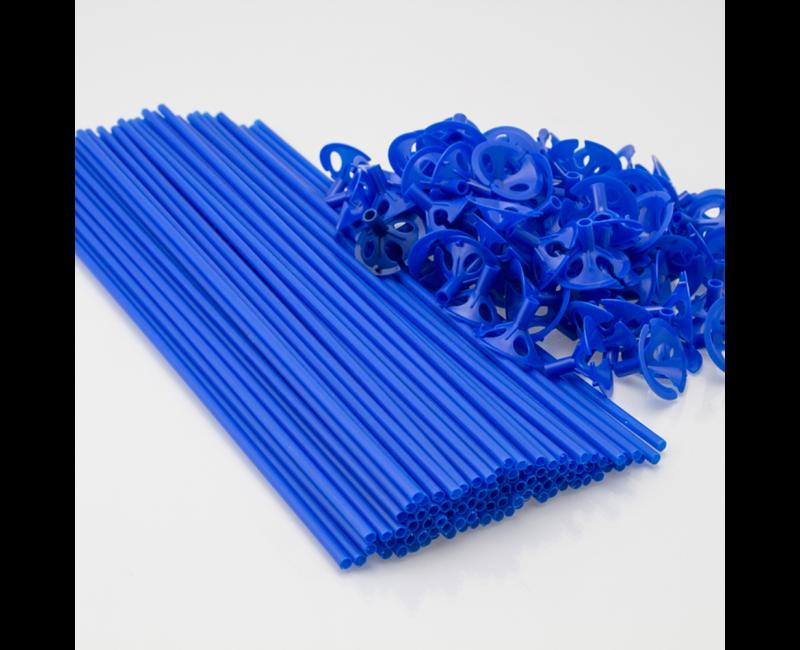 Ballonstokjes blauw, 10 stuks