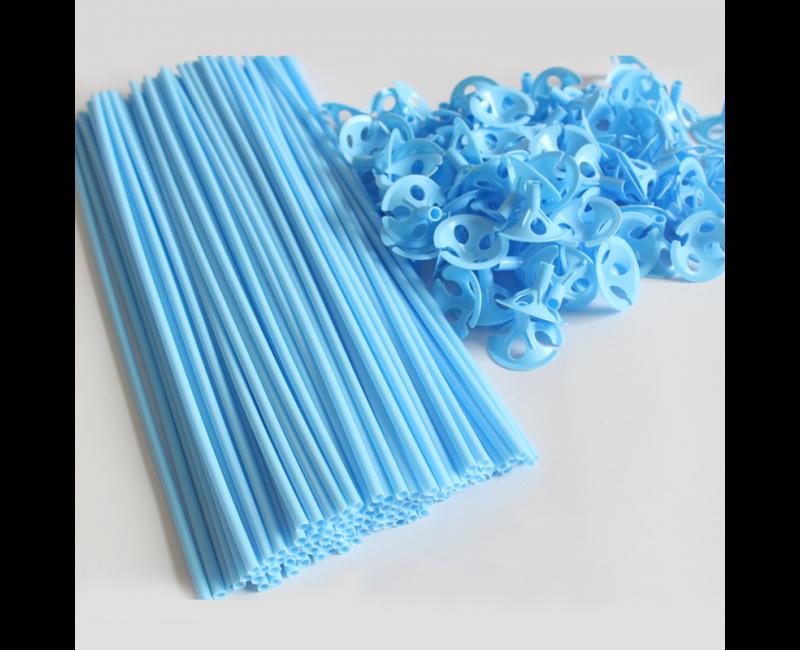Ballonstokjes lichtblauw, 10 stuks