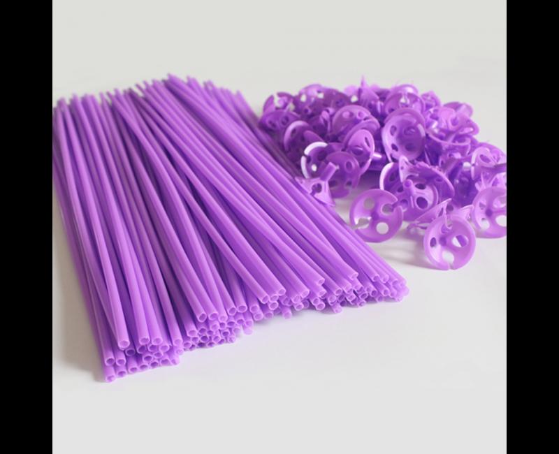 Ballonstokjes lavendel, 10 stuks