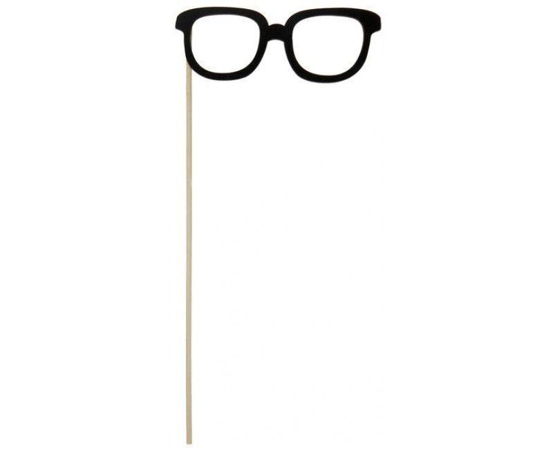 Bril op een stokje