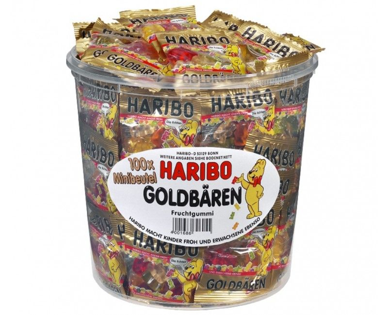 Verpakt snoep Goudbeertjes, 10 zakjes