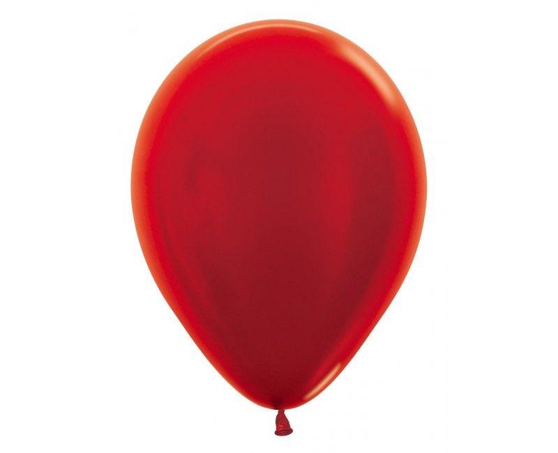 Sempertex ballonnen 30cm metallic red, 50 stuks