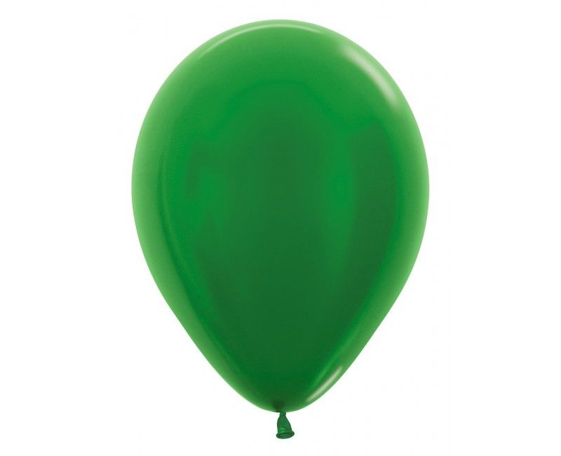 Sempertex ballonnen 30cm metallic green, 50 stuks