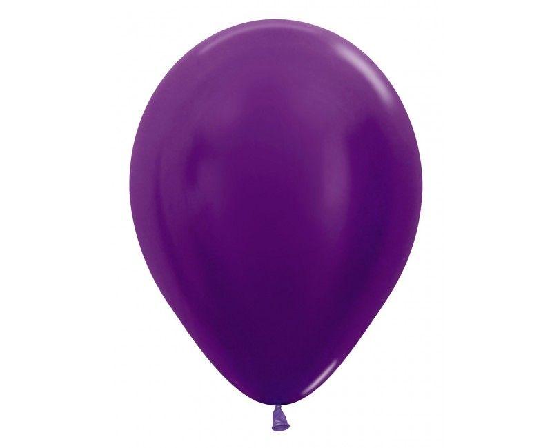 Sempertex ballonnen 12 cm metallic violet, 50 stuks
