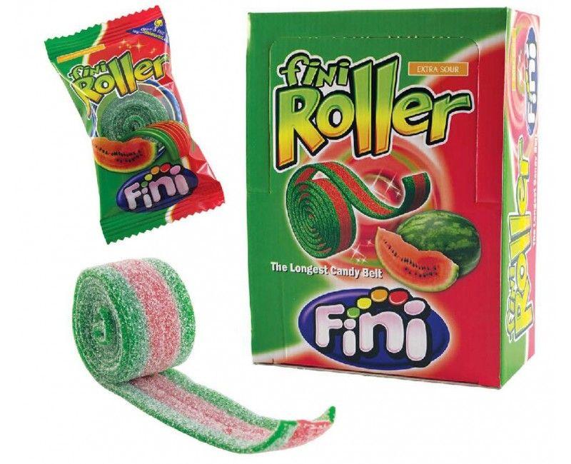 Verpakt snoep Fini Roller watermeloen, 5 stuks