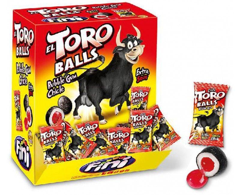 Verpakt snoep Stierenballen gum, 10 stuks