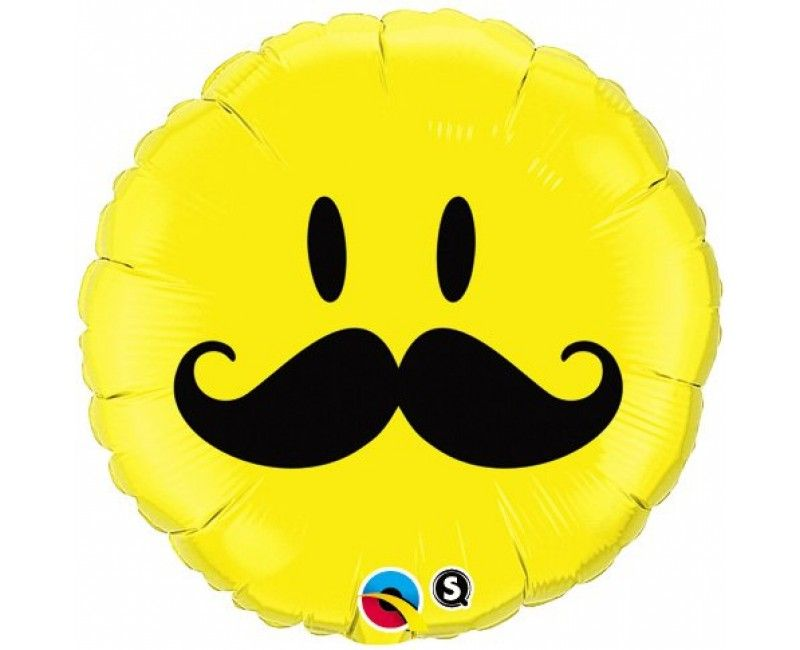 Folieballon 45cm emoticon Snor