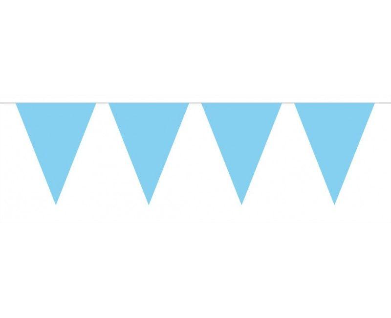 Vlaggenlijn slinger mini 3 meter lichtblauw