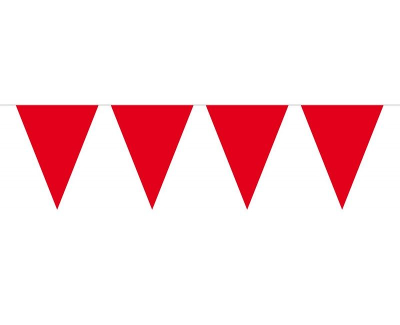 Vlaggenlijn slinger XL 10 meter rood