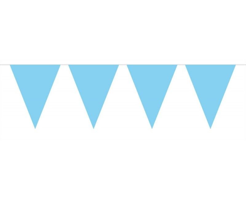 Vlaggenlijn slinger XL 10 meter lichtblauw