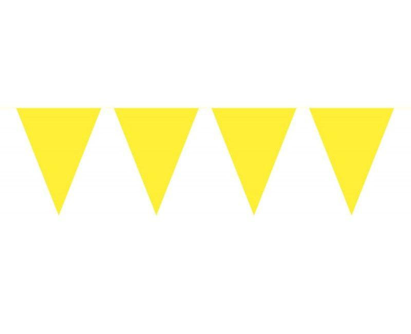 Vlaggenlijn slinger XL 10 meter geel