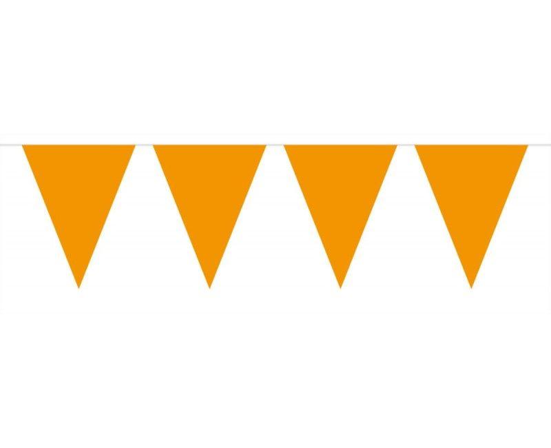 Vlaggenlijn slinger XL 10 meter oranje