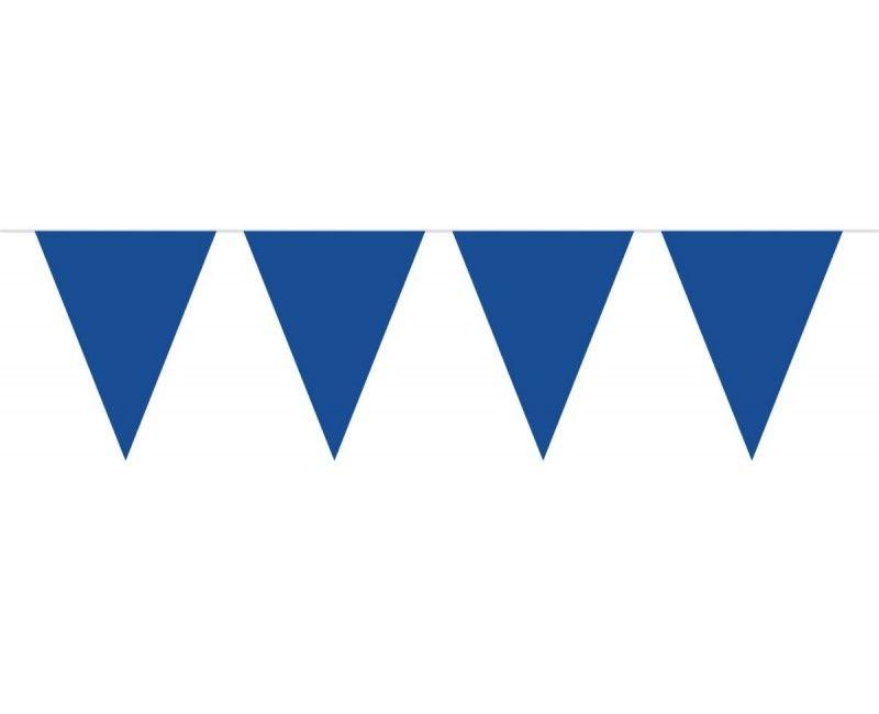 Vlaggenlijn slinger XL 10 meter blauw