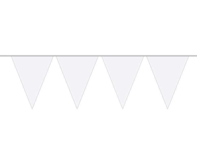 Vlaggenlijn slinger XL 10 meter wit