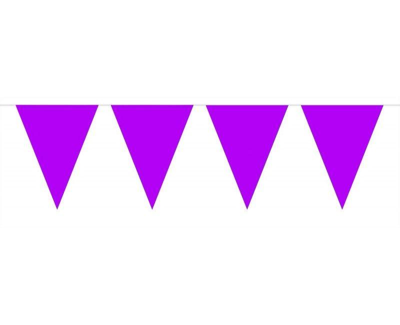 Vlaggenlijn slinger XL 10 meter paars