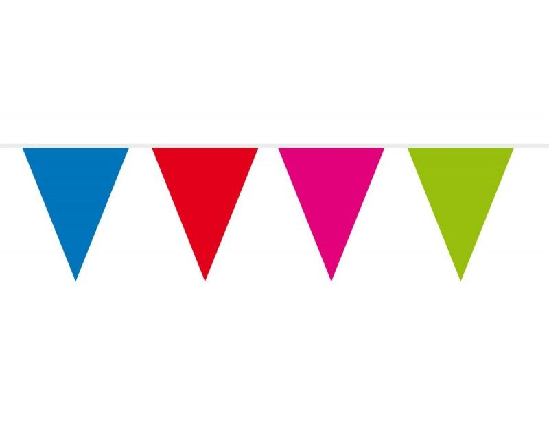 Vlaggenlijn slinger XL multicolour, lengte 10 meter