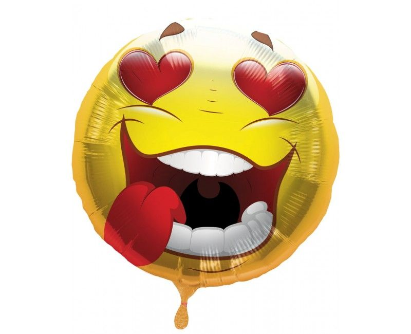 Folieballon Emoticon Crazy Love