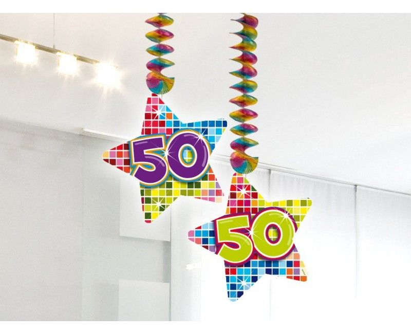 Hangdecoratie 50 jaar Birthday Blocks