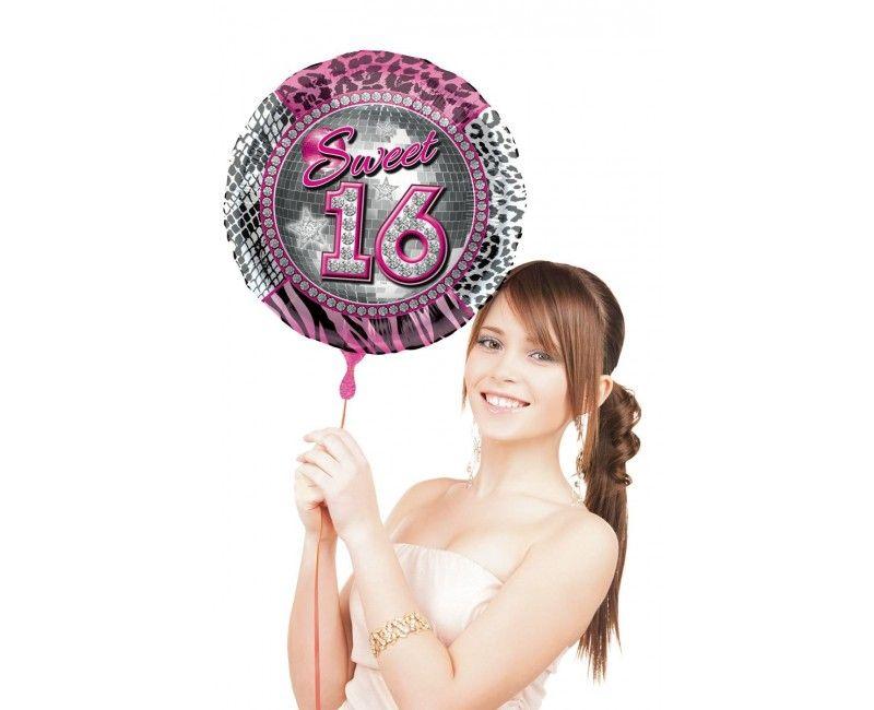 Folieballon Sweet Sixteen