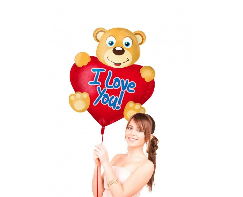Folieballon Bear Love supershape