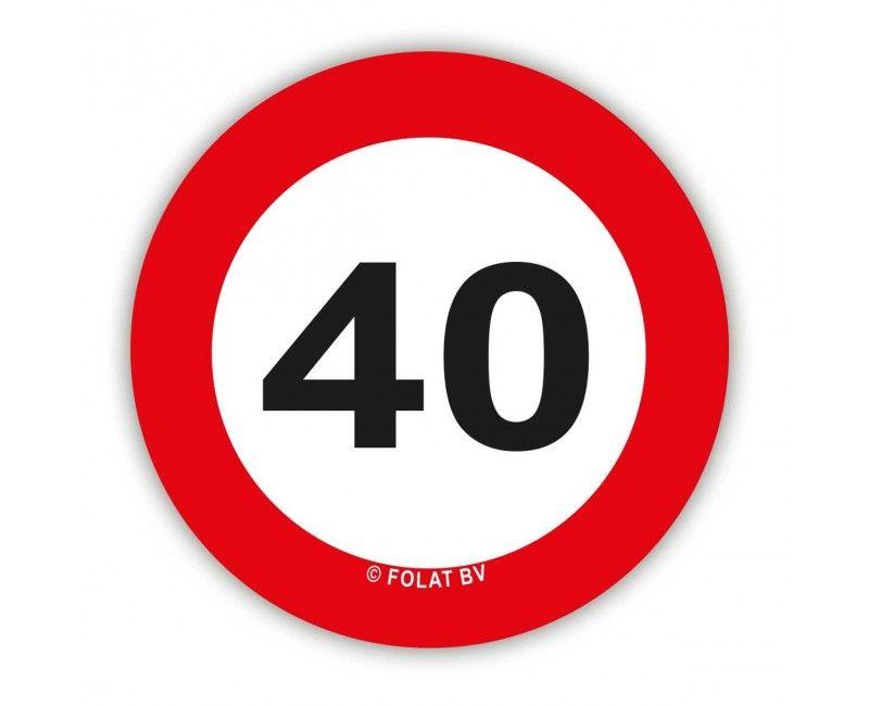 Tafelconfetti verkeersbord 40 jaar