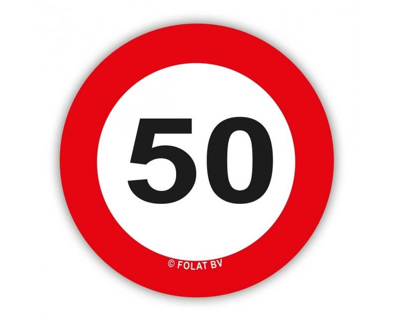 Tafelconfetti verkeersbord 50 jaar