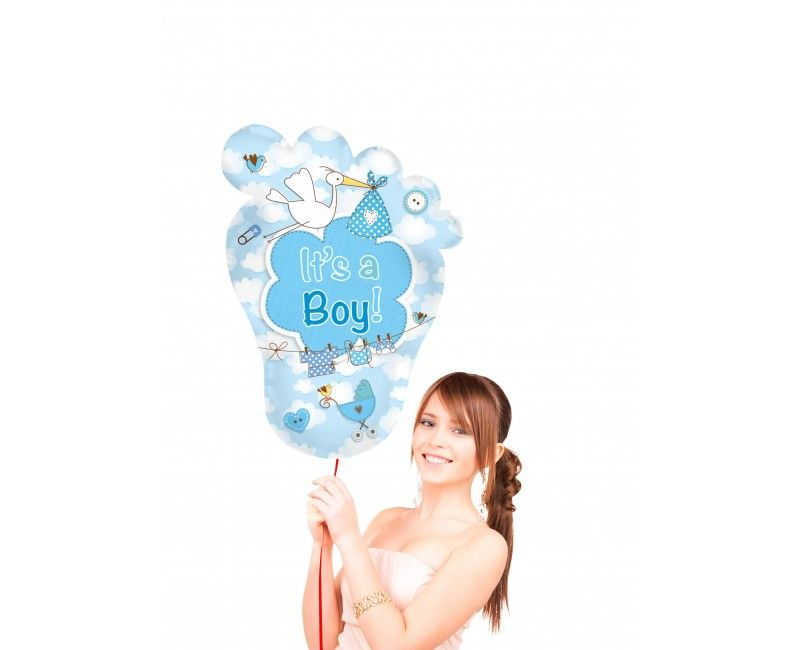 Folieballon Voet It's a boy supershape 70 x 102cm