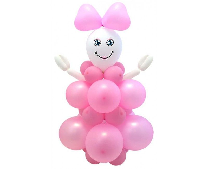 Ballonnen set DIY Baby Girl