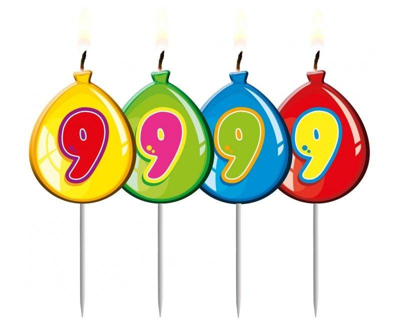 Verjaardags kaarsje ballon 9