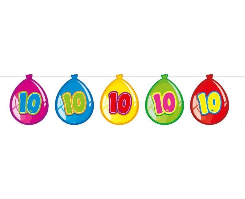 Papieren ballonnen slinger 10 jaar