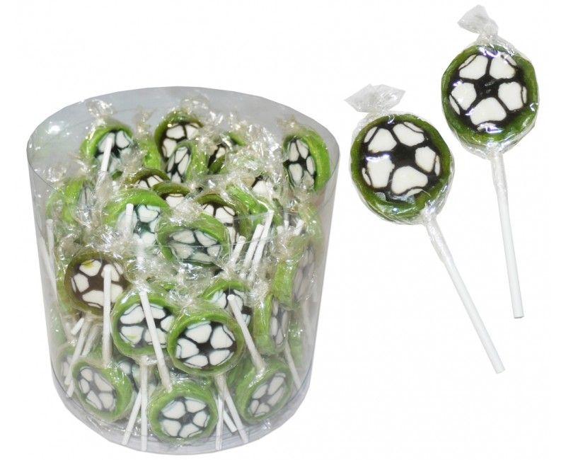 Verpakt snoep lolly voetbal, 10 stuks