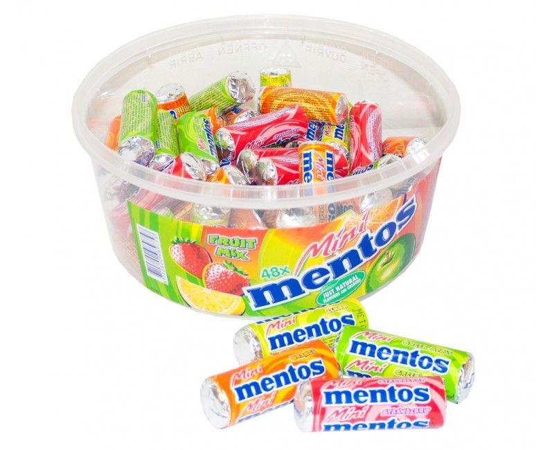 Verpakt snoep Mentos mini rolletjes, 10 stuks